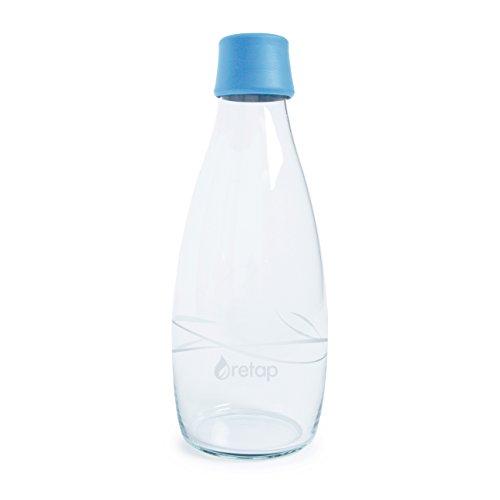 Retap Borosilikatglas Wasser Flasche, 27-Ounce, hellblau
