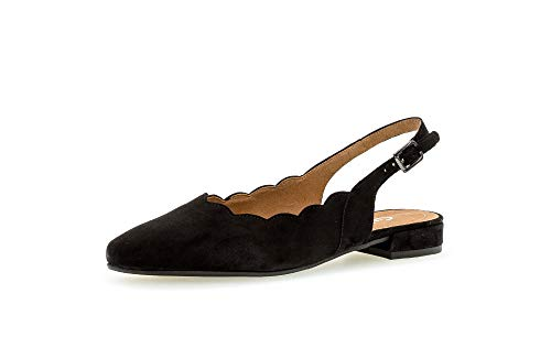 Gabor Damen Pumps, Frauen Sling-Pumps,Comfort-Mehrweite, weibliche Lady Ladies feminin elegant Women's Women Woman Freizeit,schwarz,40 EU / 6.5 UK