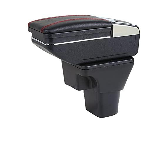 Caja Apoyabrazos Coche para Hyundai Accent Verna 2006-2011 Caja de reposabrazos con portavasos Cenicero Interfaz USB Apoyabrazos Central Automóvil