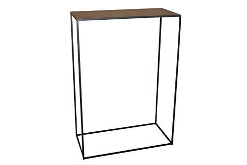 Caleido Mali Konsolentisch Sideboard Beistelltisch Konsole Flurtisch Metall Dunkelbraun | B/T/H 60 cm / 30 cm / 85 cm