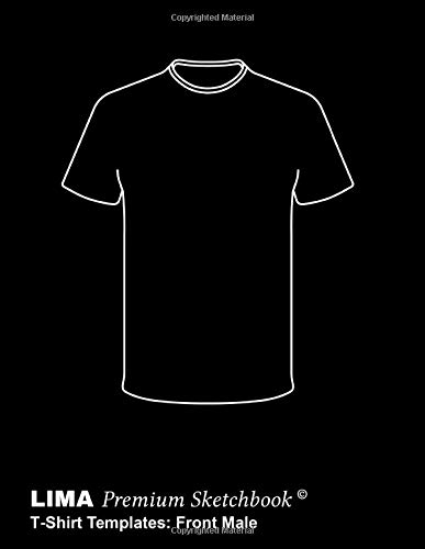 Lima Premium Sketchbook T Shirt Templates Front Male A Handy Sketchbook For Fast And Uncomplicated Creation Of T Shirt Designs Using Ready Made
