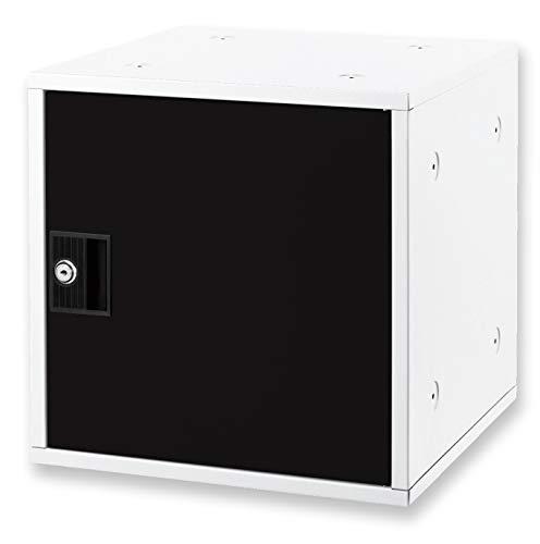 アスカ ミニロッカー 組立式ボックス シューズ対応 スタッキング可 下駄箱 SB800BK ブラック 350×350×350mm