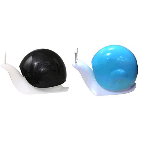 Yarnow 2 Stück Seifenspender Nachfüllbare Leere Lotion Pumpe Flasche Flüssigseifenspender für Handseife Shampoo Bade Küche Reise Schnecke Design 120ml Schwarz+Blau