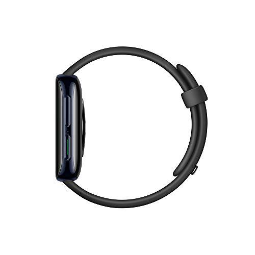 OPPO Watch 46 mm - Montre Connectée Unisexe - Bracelet Connecté 1 Go de RAM et 8 Go de Stockage - Écran Incurvé AMOLED - Bracelet Interchangeable - Applications Préinstallées - Smartwatch - Noir