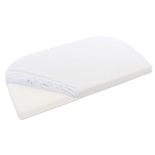 Babybay Jersey hoeslaken geschikt voor model verlengingszijde origineel, Maxi, midi, Mini en boxspring, off-white