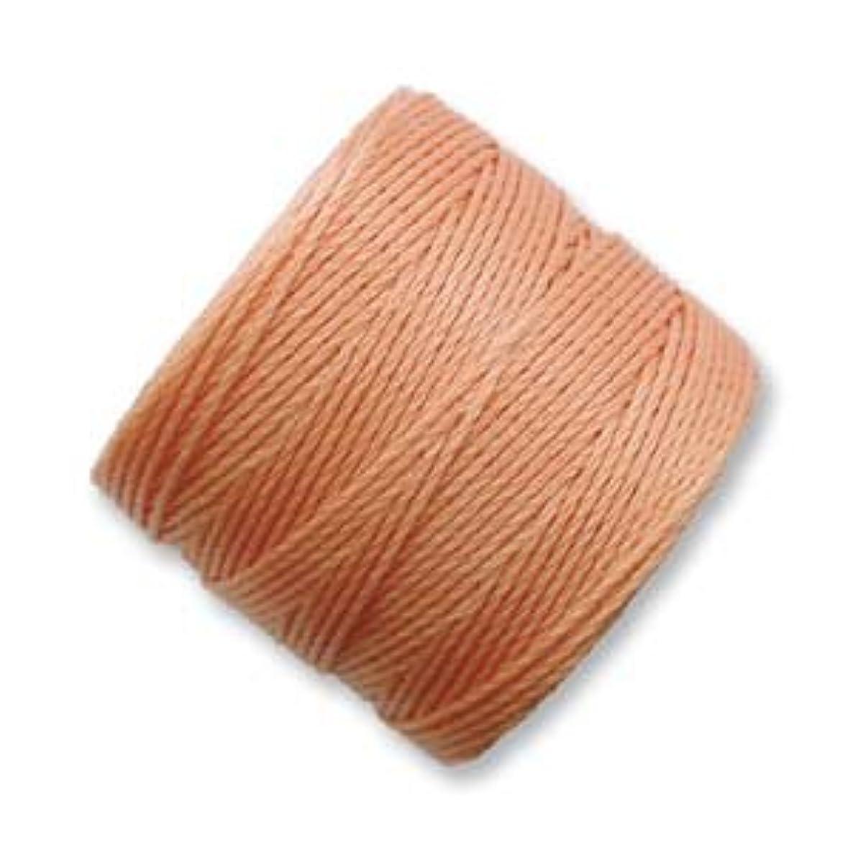 S-Lon Superlon #18 Twisted Nylon Bead Cord 77 Yard Spool Bobbin PUMPKIN