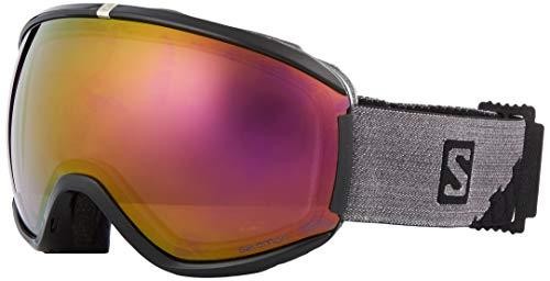 Salomon, Masque de Ski pour Femme, Temps Variable, Écran Violet Multicouche (interchangeable), Custom ID-Passform, Airflow System, iVY, Noir, L39905200