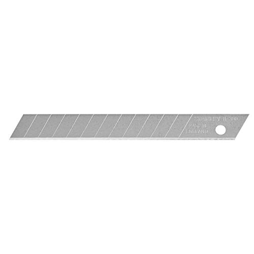 Stanley Abbrechklingen (9 mm, gerade Schneide, 12 Segmente, 0.43 mm Klingenstärke, 10 Stpck) 0-11-300