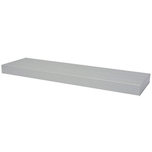 Fetim 1150977 Schwebendes Wandregal- aluminium 80 cm-BOrganised