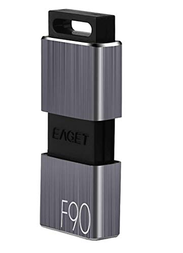 EAGET F90 128GB USB 3.0 High Speed Capless USB Flash Drive,Water Resistant Pen Drive,Shock Resistant Thumb Drive