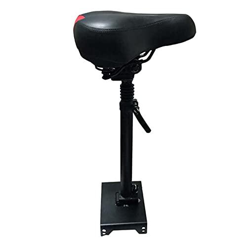 ZPFQFC Sillín de monopatín eléctrico, reemplazo para Scooter eléctrico, Asiento de Montar de Asiento Ajustable, se Puede elevar bajando sin perforar y plegarse