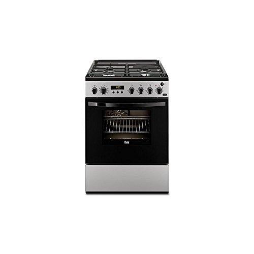 Cuisiniere gaz Faure FCM656HPSA - Silver - Classe énergétique A / Plaque Gaz + électrique / Four Electrique Multifonction / chaleur tournante - Pyrolyse - Porte tempérée