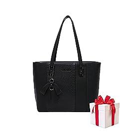 Olivia & Gallantry Sac à main femme M-9329-23 + Cadeau surprise, Sac Cabas Femmes PU Cuir ECO Grand Sac a Main Travail…