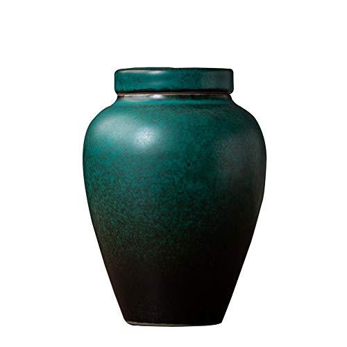 HSWYJJPFB Dog Urns Urns Mum Urn for Human Ashes Display Burial Urn at Home or in Niche at Columbarium Souvenirs Retro Ceramics High Temperature Unique Gifts Green (3.22X4.48 inch)