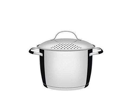 Tramontina Allegra 62667203 Espagueteira de Aço Inoxidável com Fundo Triplo, 20 cm 4.4 L, Prata