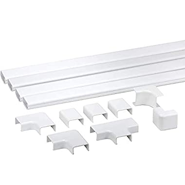 Legrand - Wiremold CMK50 Cord Mate II Kit- Raceways Cord Management Kit to Hide Cables, Cords, or Wires- 4 Channels, White