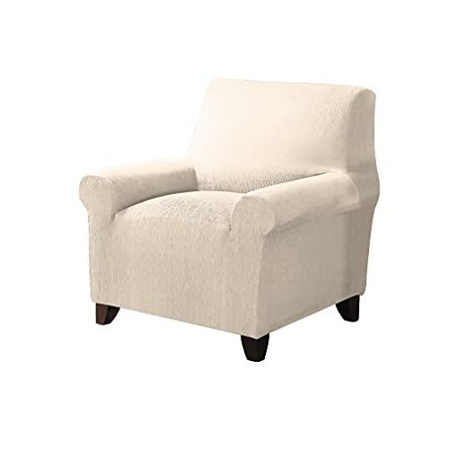 Grupo Fomento Directo - Funda de sofá Lisa. Funda Protectora de sofá plazas (Beige, 1 Plaza)