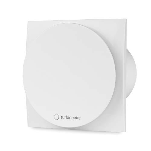 Turbionaire MIO 100 LL-SW Bad Ventilator 100mm Weiß für die Evakuierung Standard für Bad, Küche, Motor mit Kugellagern Rücklaufsperre, Schutzart IPX4 gegen Wasserspritzer