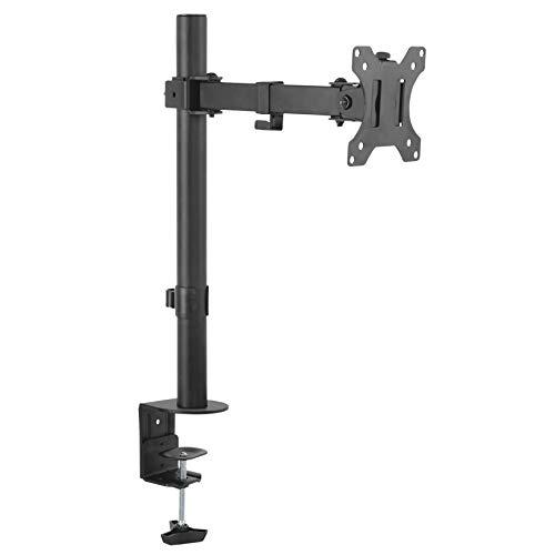 RICOO Monitor-Halterung Schwenkbar Neigbar Computer PC Bildschirm-Ständer (TS2611) Universal für 13-32 Zoll (bis 8-Kg, VESA 100x100) Schreib-Tisch Stand-Fuß Höhenverstellbar Monitor-Halter-Arm
