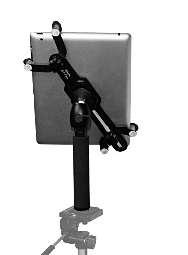 iShot G7 Pro iPad Pro 12.9/11 / 10.5/9.7 Tripod Mount + 8' Camera Tripod Adapter Pole + 360° Swivel Ball Head Hand-Held Monopod - Works with Case Compatible w/All iPad Gen. & Other 7-13' Tablets