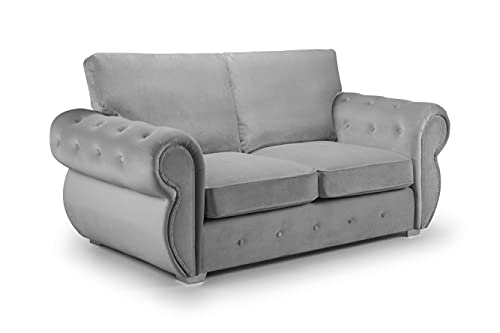 Honeypot - Sofa - Belfast - Fullback - 4 Seater - 3 Seater - 2 Seater - Armchair - Swivel Chair - Corner Sofa - Footstool - Plush Grey - Beige (3 Seater, Plush Grey)