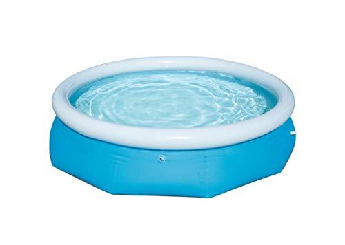 Slabo SO Fast Set Pool   Gartenpool mit aufblasbarem Luftring   Planschbecken rund im Komplett Set   Aufstellpool selbstaufbauend - OHNE FILTERPUMPE 305x76 cm