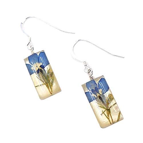 """""""Lobelia"""" Floral Hanging Earrings by Shari Dixon"""