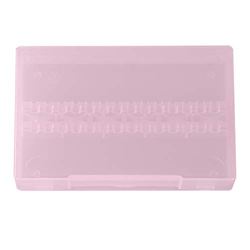 Nail Drill Bit Storage, Exquisite And Beautiful Nail Drill Bit Box, Materials Manicure Store for Home Beauty Salon Salon Shop(Pink)