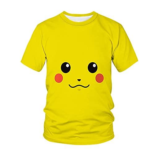 Pokémon T-shirt pour homme et femme avec manches courtes et col rond (A2, L)