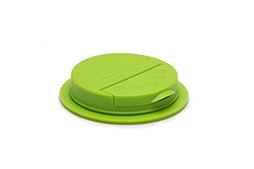 Jarware 82625 Spice Lid for Regular Mouth Mason Jars, Green