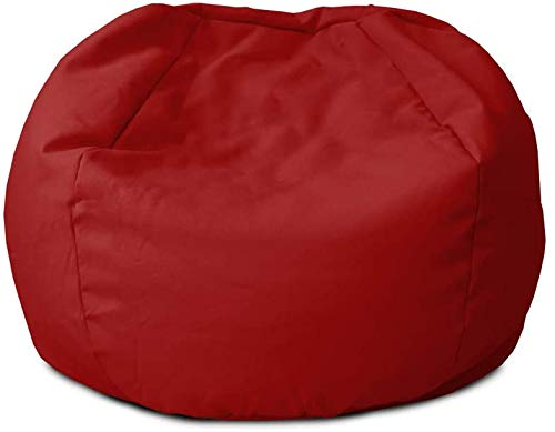 rucomfy Beanbags Indoor Small Kids Bean Bag. Use as Cushion. Recliner Chair or Lounger. Washable Durable & Comfortable 50 x 65cm (Red)