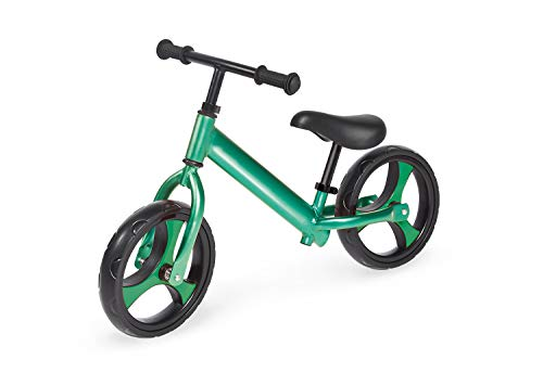 Pinolino Laufrad Luke, Aluminium, unplattbare Bereifung, federleicht, Lenker und Sattel stufenlos höhenverstellbar, für Kinder von 3 – 5 Jahren, grün