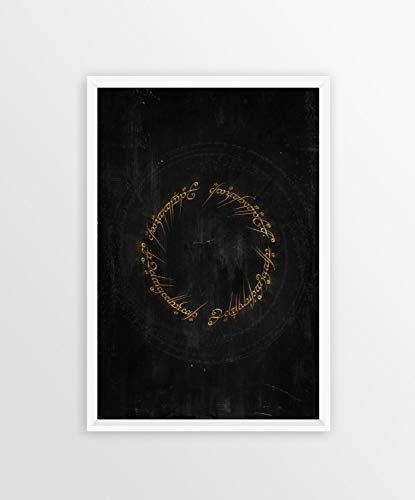 lienzo Pintura Póster de El Señor de los anillos LOTR, póster de película clásica, lienzo artístico impreso, imágenes de pared...