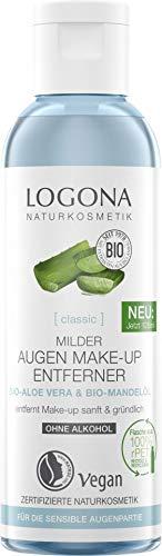 LOGONA Naturkosmetik Milder Augen Make-up Entferner, Entfernt sanft & gründlich Augen Make-up, Ohne Alkohol & Parfum,Vegan, 100ml