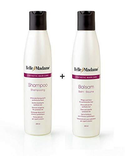 Perücken Pflegeset Shampoo 200 ml + Balsam 200 ml Dening Hair Belle Madame - für Kunsthaarperücken & Haarteile