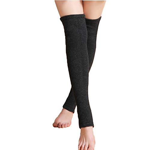 RUIXIB Winter Kaschmir Kniewärmer Stulpen für Beinstulpen Kniestrümpfe Knieschone Extra Lang Gestrickte Warmer Over-Knee Strumpf Beinstulpen für Damen Yoga Tanzen Socken Boot Cover