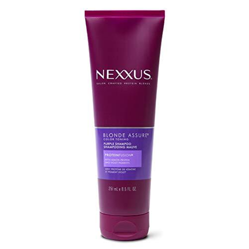 Nexxus Blonde Assure Purple Shampoo, Color Care Shampoo, For Blonde Hair Keratin Protein 8.5 oz