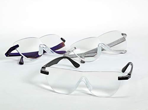 拡大鏡 メガネ 眼鏡式拡大鏡 めがね式 オーバーグラス 眼鏡ルーペ (ブルーライトカット/ノーマル) メガネタイプ MO-005 全6種 (ノーマル/クリア)
