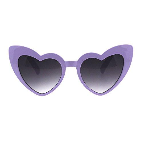 Girls Kid Size Heart Shape Lolita Valentine Love Sunglasses Purple Smoke