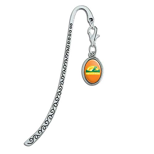Gumby Stretching That's A Stretch Exercise Metal Bookmark Page Marker with Oval Charm