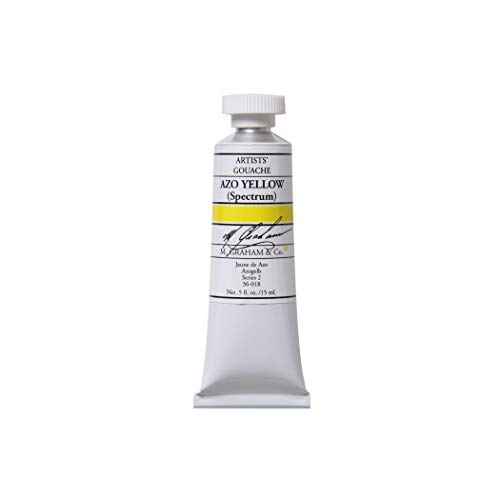 M. Graham 1/2-Ounce Tube Gouache Paint, Azo Yellow (Spectrum)
