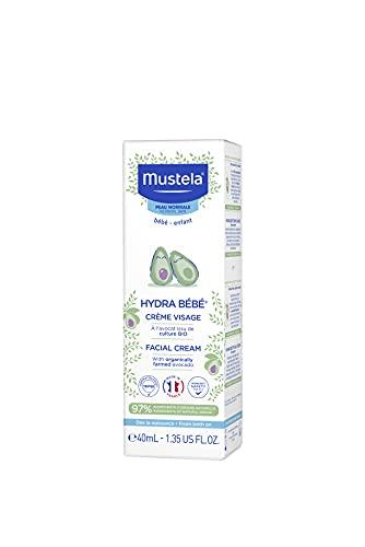 Mustela HydraBebe Facial Cream Normal Skin, White, 40ml