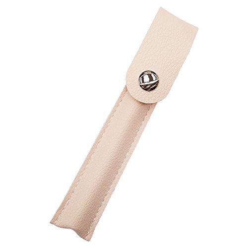 プルームテック ケース (アイボリー) Ploom TECH ケース カバー PU レザー スリム コンパクト 合皮 シンプル 無地 電子タバコ 保護 収納 ポーチ ホルダー