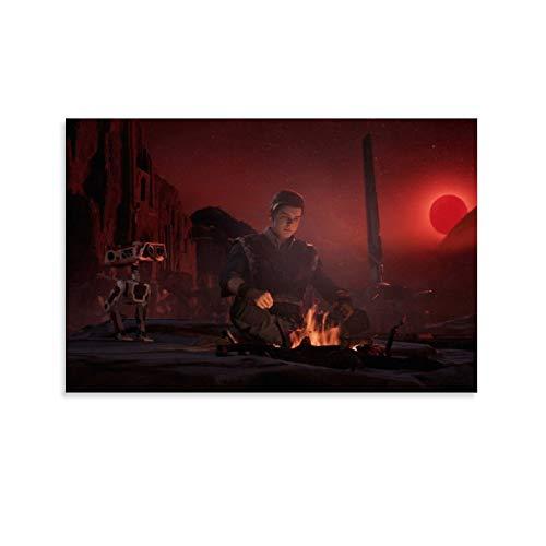 SSKJTC Pictures Arts Craft for Home Wall Decor Gift Star Wars Movie Poster Jedi Fallen Order Decoración de Sala de Baño Decoraciones (30 x 45 cm)