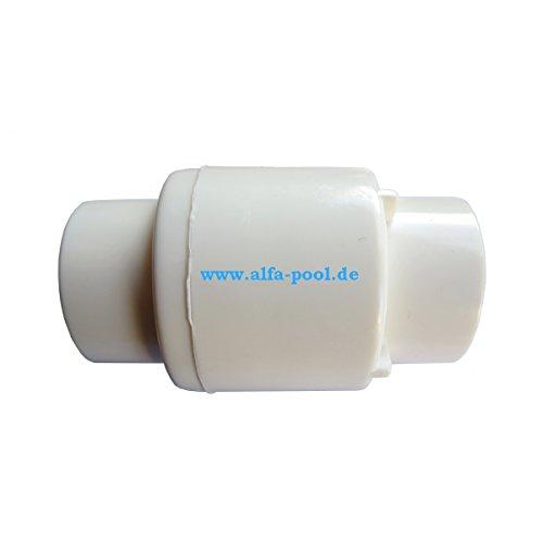 Rückhalteventil, Rückschlagventil federbelastet PVC weiß Klebemuffen 32mm