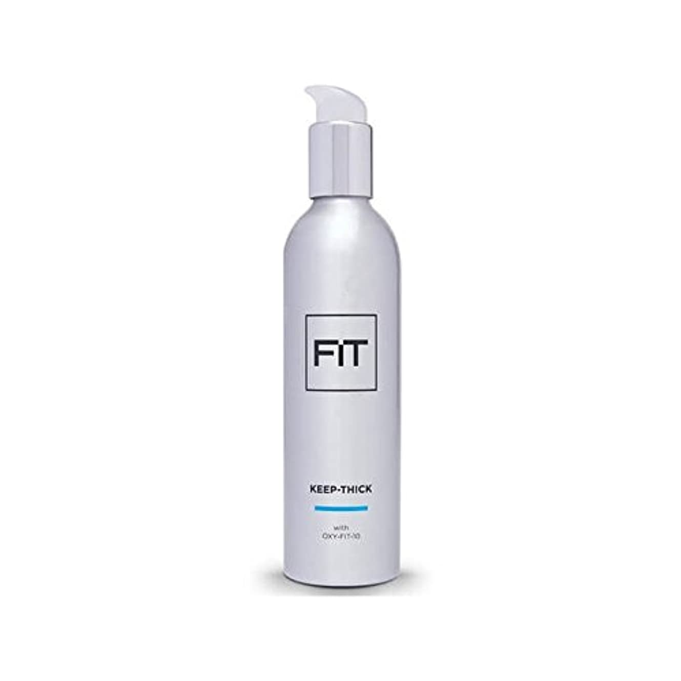 例示する突破口葉を集める太いヘアトリートメント250ミリリットルを維持フィット x4 - Fit Keep Thick Hair Treatment 250ml (Pack of 4) [並行輸入品]