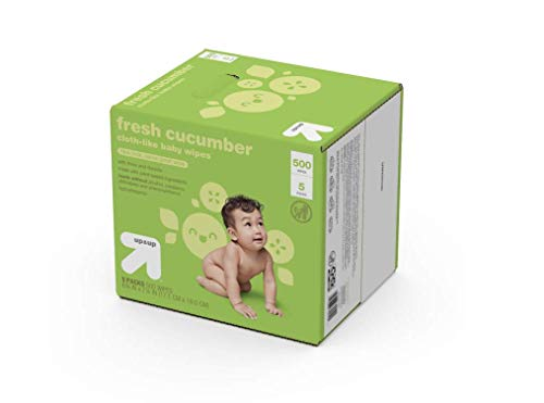 Up & Up Fresh Cucumber Cloth-Like Baby Wipes - 500 Count