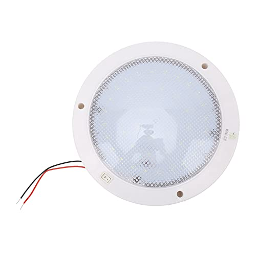 Panel de luz LED redondo, panel empotrado LED de 8,6 x 6,7 pulgadas de bajo consumo para caravanas, barcos, etc.(Zhengbai, Tipo de torre inclinada de Pisa)