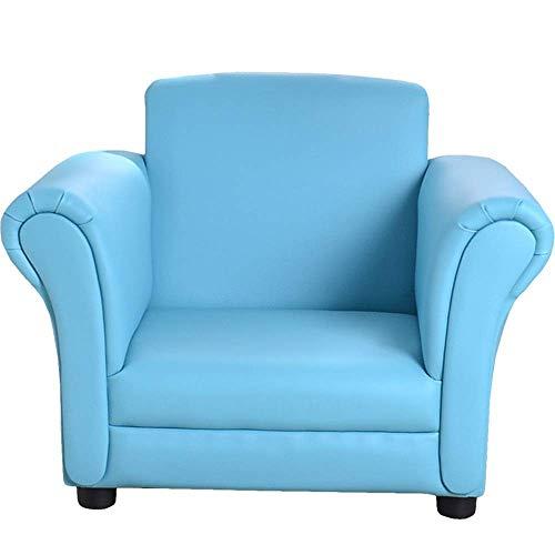 N&O Renovierungshaus Möbel Kinderstuhl Stoff Gepolstert Für Kinder Gepolsterter Schaukelstuhl Moderner Rücken (Color : Blue Size : 45x48x58cm)