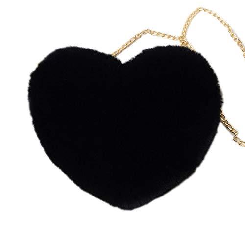 SWEETWU - Bolso bandolera de piel sintética con forma de corazón para mujer, impermeable, con cadena de hombro, con USB, Oxford, para adolescentes, para niñas, antirrobo, multifunción, para viajes